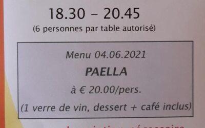 La Ferme de Brasseyrou: début des repas du vendredi soir!