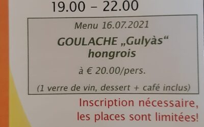 La Ferme de Brasseyrou: dîner du vendredi 16 juillet soir!